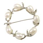 Pearl ujërave të ëmbla karficë, Pearl kulturuar ujërave të ëmbla, Petull e ëmbël në formë gjevreku, e bardhë, 7-8mm,  PC