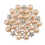 Pearl ujërave të ëmbla karficë, Pearl kulturuar ujërave të ëmbla, Lule, rozë, 7-8mm, 49x7mm,  PC