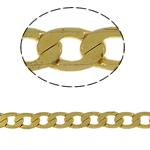 Tunxh Zinxhiri Curb, ngjyrë ari praruar, asnjë, , nikel çojë \x26amp; kadmium falas, 5x7x1mm, 100m/PC,  PC