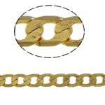 Tunxh Zinxhiri Curb, ngjyrë ari praruar, asnjë, , nikel çojë \x26amp; kadmium falas, 4x6x1mm, 100m/PC,  PC