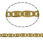 Tunxh Zinxhiri Valentino, ngjyrë ari praruar, asnjë, , nikel çojë \x26amp; kadmium falas, 3x8x1mm, 100m/PC,  PC