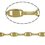 Tunxh Zinxhiri Valentino, ngjyrë ari praruar, asnjë, , nikel çojë \x26amp; kadmium falas, 4x8x1mm, 100m/PC,  PC