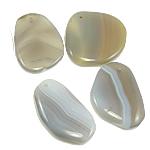 Agat pendants bizhuteri, Agat përziera, i përzier, 42-47mm, : 2.5mm, 30PC/Qese,  Qese