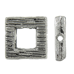 Beads bizhuteri Alloy zink, Katror, Ngjyra antike argjendi praruar, asnjë, , nikel çojë \x26amp; kadmium falas, 10x2.50mm, : 1mm, 905PC/KG,  KG