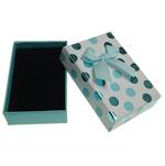 Karton Set bizhuteri Box, Drejtkëndësh, 55x80x25mm, 20PC/Shumë,  Shumë