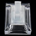 Organike Ring Glass Display, Glass Organike, Shape Tjera, asnjë, i tejdukshëm, qartë, 30x37x23mm, 20PC/Shumë,  Shumë