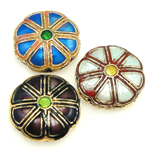 Beads Smooth Cloisonne, Lule, 18x7mm, : 1mm, 40PC/Qese,  Qese