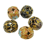 Beads Smooth Cloisonne, Oval, 13x15mm, : 1mm, 20PC/Qese,  Qese