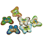 Beads Smooth Cloisonne, Kafshë, 23.50x17x5mm, : 1.5mm, 20PC/Qese,  Qese