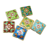 Beads Smooth Cloisonne, Katror, 21.50x6.50mm, : 2x1mm, 20PC/Qese,  Qese