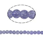 Glass Beads kërcitje, Xham, Round, asnjë, vjollcë, 6mm, : 1.5mm, :31Inç, 140PC/Fije floku,  31Inç,