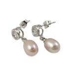 Një palë vathë Pearl ujërave të ëmbla, Pearl kulturuar ujërave të ëmbla, Shape Tjera, asnjë, rozë, 8-10mm, 20-22mm, 10Palë/Qese,  Qese
