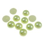 Cabochons plastike, Kube, e gjelbër, 12x5mm, 1000PC/Qese,  Qese