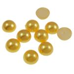 Cabochons plastike, Kube, i verdhë, 12x5mm, 1000PC/Qese,  Qese