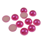 Cabochons plastike, Kube, Pink fuchsia, 12x5mm, 1000PC/Qese,  Qese