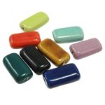 Beads xham porcelani, Rondelle, xham, ngjyra të përziera, 25x14x8mm, : 2mm, 80PC/Qese,  Qese