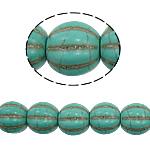 Bruz Beads, Bruz sintetike, Oval, e gjelbër, 12mm, : 1mm, : 15.5Inç, 32PC/Fije floku,  15.5Inç,