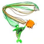 Lampwork Gjerdan, Shape përziera, ngjyra të përziera, 39-70mm, :19.5Inç, 12Fillesat/Qese,  Qese