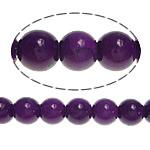Violetter Stein Perle, rund, synthetisch, approx 8-8.5mm, Bohrung:ca. 1mm, Länge:ca. 15.5 ZollInch, 10SträngeStrang/Menge, verkauft von Menge