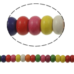 Bruz Beads, Bruz sintetike, Rondelle, ngjyra të përziera, 5x10mm, : 1mm, :15.5Inç, 76PC/Fije floku,  15.5Inç,