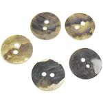 Qepje Button, Predhë, Monedhë, 15x15x1-2mm, : 2mm, 1000PC/Qese,  Qese