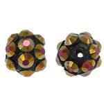 Beads diamant i rremë Rrëshirë, Rrëshirë diamant i rremë, Daulle, asnjë, me diamant i rremë, 8x10mm, : 1.5mm, 100PC/Qese,  Qese