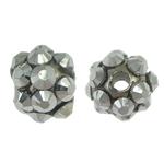 Beads diamant i rremë Rrëshirë, Rrëshirë diamant i rremë, Round, asnjë, me diamant i rremë, 8x10mm, : 1.5mm, 100PC/Qese,  Qese