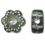 Theks Silver Beads akrilik, Lule, theks argjendi, cyan drita, 7x4x2mm, : 1.2-1.5mm,  Qese
