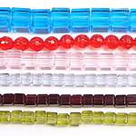 Beads Crystal, Kristal, Shape përziera, asnjë, faceted, ngjyra të përziera, 6-10mm, : 14.5Inç,  KG