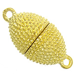 Alloy zink kapje magnetik, ngjyrë ari praruar, asnjë, , nikel çojë \x26amp; kadmium falas, 13x27mm, : 2.2mm, 50PC/Qese,  Qese