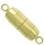 Kapje tunxh magnetik, Kolonë, ngjyrë ari praruar, asnjë, , nikel çojë \x26amp; kadmium falas, 17.50x5mm, : 1.5mm, 200PC/Qese,  Qese