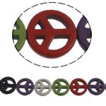 Bruz Beads, Bruz sintetike, Monedhë, ngjyra të përziera, 15x3.50mm, : 1mm, :16Inç, 27PC/Fije floku,  16Inç,