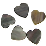 Cabochons Shell, Black Shell, Zemër, 10-11x10-11x1.2-2mm, 500PC/Qese,  Qese