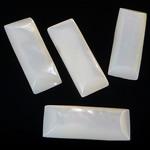 Cabochons Shell, White Shell, Drejtkëndësh, 9-23.5x3.5-4mm, 20PC/Qese,  Qese