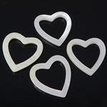 Beads Natyrore White Shell, Zemër, asnjë, e bardhë, 18-19x18-19x2.5-3mm, : 13.5x13.5mm, 20PC/Qese,  Qese