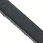 Cord lëkure, Cowhide, e zezë, 3x2mm, :100m, 100m/Shumë,  Shumë