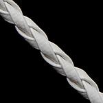 Cord lëkure, PU, e bardhë, 3mm, :100Oborr,  Shumë