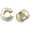 Sterling Silver Crimp Bead Cover, more plated colors for choice, 3x3.4x2.6mm, Sold by PC