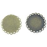 Tunxh Settings Cabochon, Round Flat, Ngjyra antike bronz i praruar, asnjë, , nikel çojë \x26amp; kadmium falas, 29x29x3.5mm, 24.7x24.7mm, : 24.7mm, 100PC/Qese,  Qese