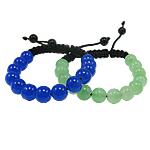 Glass Shamballa Bracelets, Xham, ngjyra të përziera, 10mm, :7.5Inç, 12Fillesat/Qese,  Qese