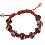 Lampwork Shamballa Bracelets, 9x12mm, :7.5Inç, 12Fillesat/Qese,  Qese