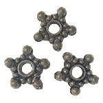 Beads aliazh metalik, Metal Alloy, Yll, dritë gri, 9x9x2mm, : 2mm, 3KG/Shumë,  Shumë