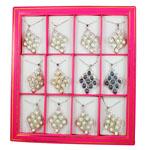 Ujërave të ëmbla Pearl gjerdan Zinxhiri tunxh, Pearl kulturuar ujërave të ëmbla, with Tunxh, Lot, natyror, ngjyra të përziera, 36x60mm, :16Inç, 12Fillesat/Kuti,  Kuti