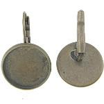 Llozi tunxh Back Vath Komponenti, Ngjyra antike bronz i praruar, asnjë, , nikel çojë \x26amp; kadmium falas, 18x18x2mm, 16x16mm, 200PC/Qese,  Qese