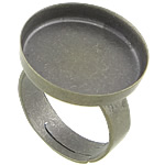 Bezel Brass Ring Base, Tunxh, Ngjyra antike bronz i praruar, asnjë, , nikel çojë \x26amp; kadmium falas, 19x19x3mm, 18x18mm, 5mm, : 17.5mm, : 18mm, :7.5, 200PC/Qese,  Qese