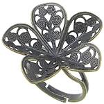 Filigran Brass Ring Base, Tunxh, Ngjyra antike bronz i praruar, asnjë, , nikel çojë \x26amp; kadmium falas, 24.50x24mm, : 17mm, : 24x24.5mm, :7, 100PC/Qese,  Qese