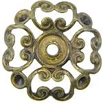 Bizhuteri tunxh Gjetja, Ngjyra antike bronz i praruar, asnjë, , nikel çojë \x26amp; kadmium falas, 22x22x0.50mm, : 2.5mm, 300PC/Qese,  Qese
