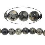 Veins Natyrore Dragon agat Beads, Agat Dragon venë, Round, 12mm, : 1.2mm, : 15.5Inç, 10Fillesat/Shumë,  Shumë