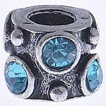 Beads European aliazh zink, Alloy zink, Daulle, pa karrem & me diamant i rremë, , nikel çojë \x26amp; kadmium falas, 11x8mm, : 4mm, 10PC/Qese,  Qese