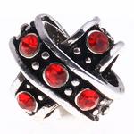 Beads European aliazh zink, Alloy zink, Kryq, pa karrem & me diamant i rremë, , nikel çojë \x26amp; kadmium falas, 10x10x11mm, : 5mm, 10PC/Qese,  Qese